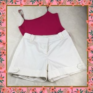 WHBM WHITE CUFF FULLY LINED LADIES SHORTS 4